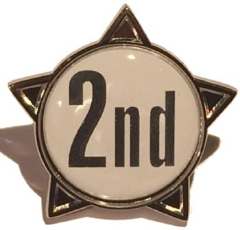2nd titled star shape badge